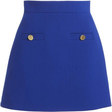 George Keburia Button-Embellished Mini Skirt