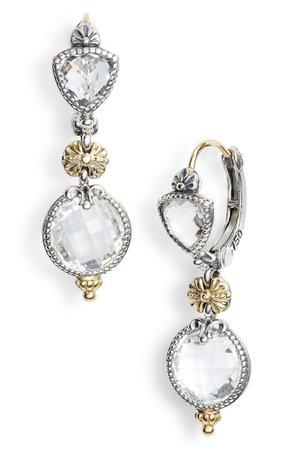 Konstantino Pythia Double Drop Crystal Earrings | Nordstrom