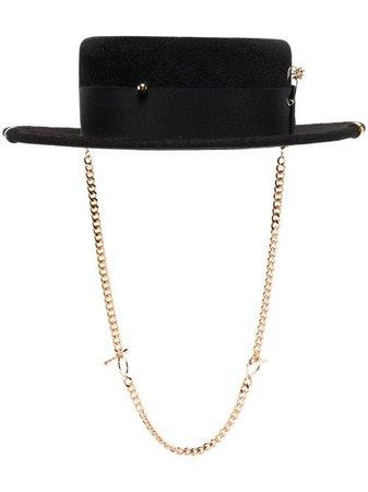 Ruslan Baginskiy Chain Strap Boater Hat - Farfetch