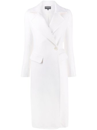 Shop white Ann Demeulemeester double-breasted peacoat with Express Delivery - Farfetch