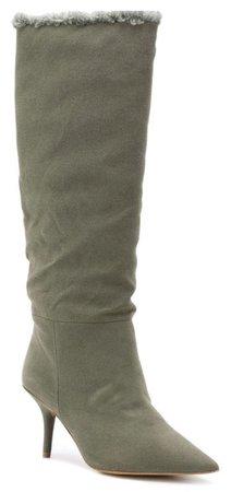 YEEZY Lichen Green Knee Boots