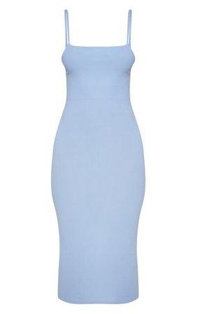 Baby Blue Strappy Midi Dress | Dresses | PrettyLittleThing