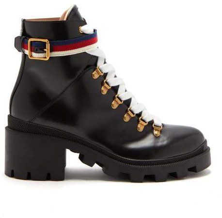 Trip Leather Boots - Womens - Black