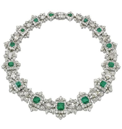 AN IMPORTANT EMERALD AND DIAMOND NECKLACE, CARTIER