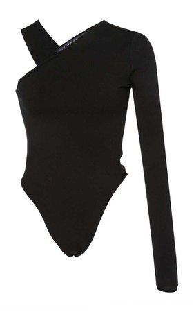 Cold-Shoulder Stretch-Knit Bodysuit |  Zeynep Arçay