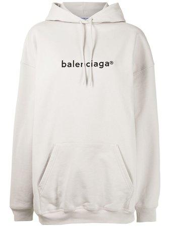 Balenciaga Hoodie i oversize-modell - Farfetch
