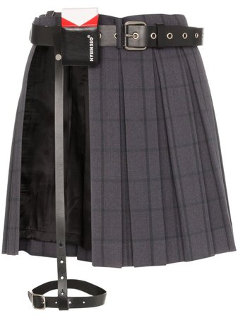 Hyein Seo Pleated mini-skirt With Leather Belt - Farfetch