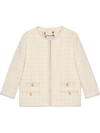 Gucci, Houndstooth tweed jacket