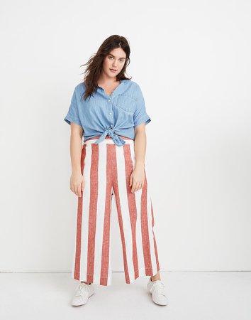 Tall Huston Pull-On Crop Pants in Bold Stripe