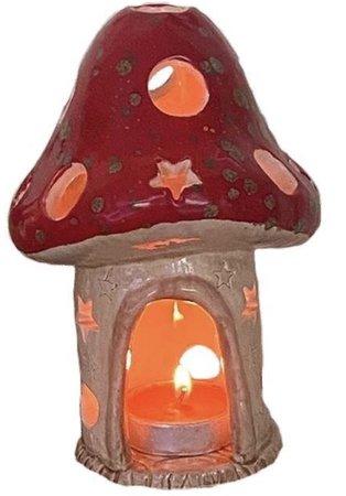 mushroom candle poster