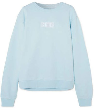 Kith - Crosby Cotton-fleece Sweatshirt - Light blue