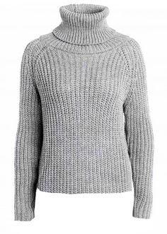 Stylish Turtleneck Longsleeve Sweater - Gray