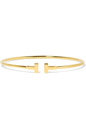 Tiffany & Co. | T Wire Narrow 18-karat gold bracelet | NET-A-PORTER.COM