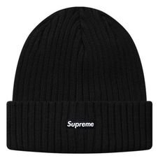 (17) Pinterest - 2015-FW-SUPREME-Ribbed-Beanie-Black-Supreme-Beanie-Hat-Cap-NWT | Hats