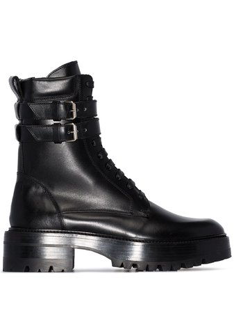 Amiri Double-Buckle Combat Boots | Farfetch.com