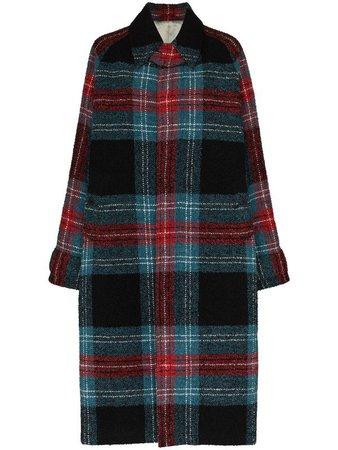 Charles Jeffrey Loverboy Doctors Tartan Wool Coat - Farfetch