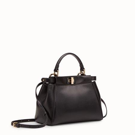 Black leather bag - PEEKABOO MINI | Fendi