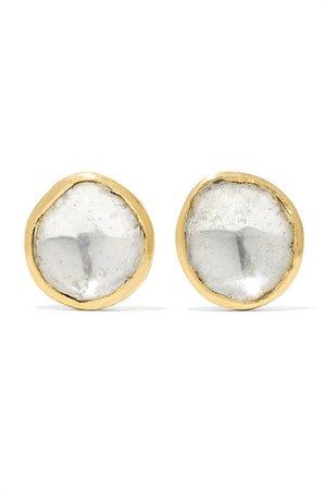Pippa Small   18-karat gold diamond earrings   NET-A-PORTER.COM