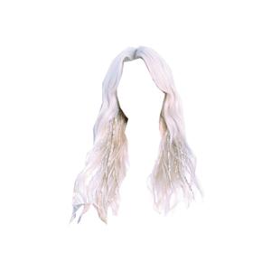 White Blonde Platinum Hair PNG