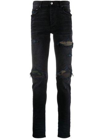 AMIRI distressed skinny jeans black MDS007 - Farfetch
