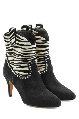 Ankle Boots with Calf Hair Gr. IT 39.5