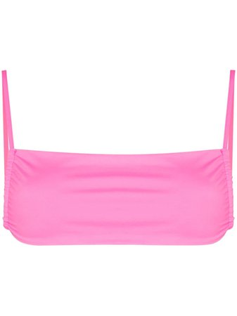 Shop pink Frankies Bikinis Kailyn square-neck bikini top with Express Delivery - Farfetch