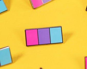 Androgyne Ribbon Pin Subtle LGBT Pride Enamel Minimalist | Etsy