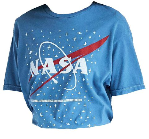 "blue ""nasa"" t-shirt"