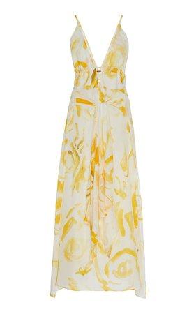 Margot Printed Cotton-Silk Midi Dress by Cult Gaia | Moda Operandi