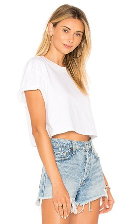 x karla The Crop Tee in White | REVOLVE