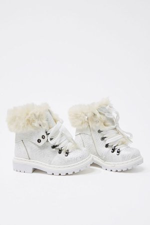 Girls Faux Fur-Trim Booties (Kids)