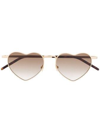 Saint Laurent heart-frame Sunglasses - Farfetch