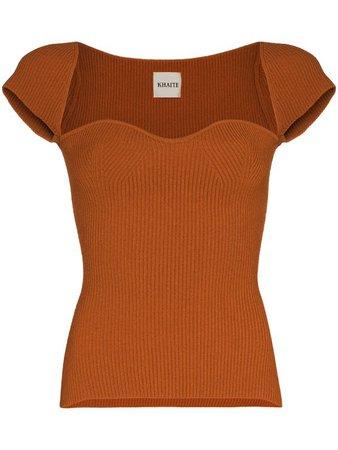 Khaite cap-sleeve knitted top - FARFETCH