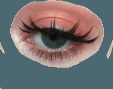 peach peachaesthetic peachy eye eyelashes...