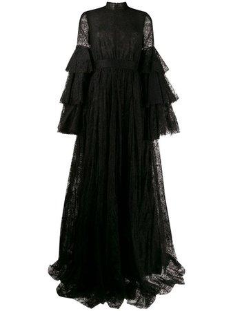 Giambattista Valli lace ruffled gown - FARFETCH