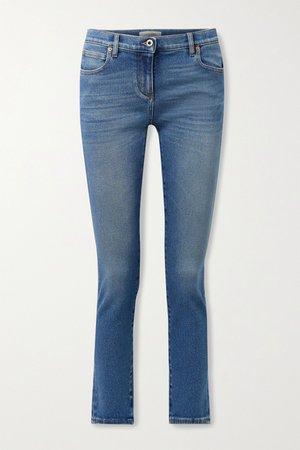 Mid denim Mid-rise skinny jeans   Valentino   NET-A-PORTER