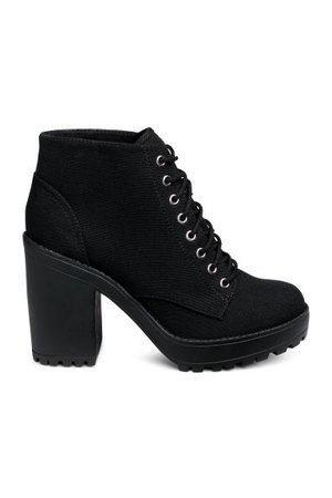 Canvas Platform Boots - Black - | H&M US