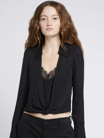 Jannie Blouse With Lace Cami