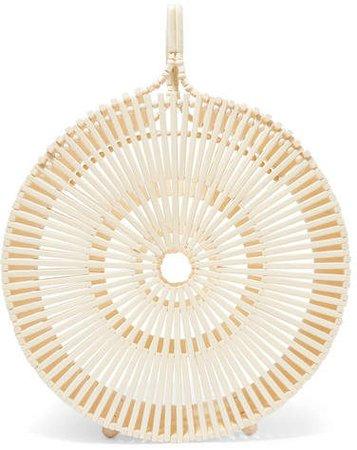 Zaha Bamboo Clutch - Off-white