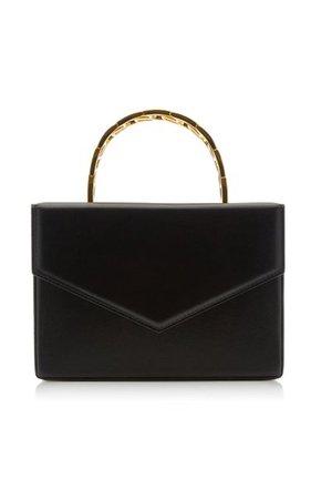 Pernille Leather Top Handle Bag By Amina Muaddi | Moda Operandi