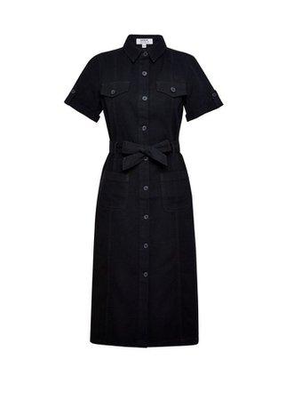 Black Denim Shirt Dress | Dorothy Perkins