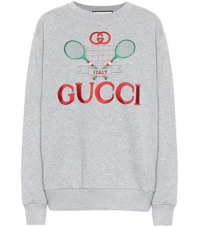 Embroidered Cotton Sweater - Gucci | Mytheresa