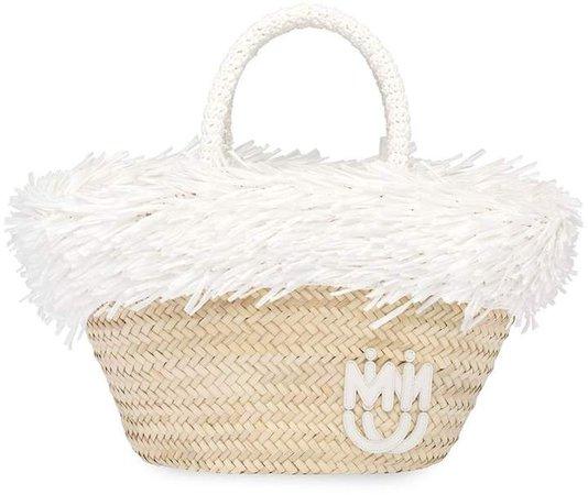 Fringed Raffia Tote Bag