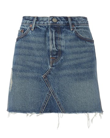 GRLFRND Eva Denim Mini Skirt | INTERMIX®