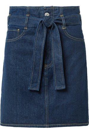 3x1   Kelly belted denim mini skirt   NET-A-PORTER.COM