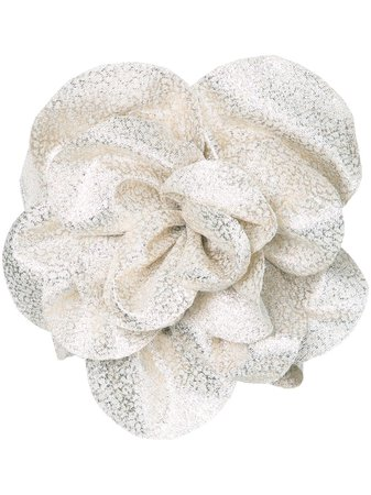 Bambah metallic floral embellished tube top metallic S17GG001 - Farfetch