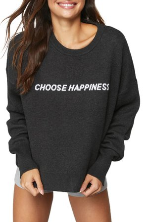 Spiritual Gangster Glow Up Choose Happiness Graphic Sweater | Nordstrom