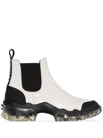 Moncler Hanya Chelsea Boots 4F70102S6H White | Farfetch