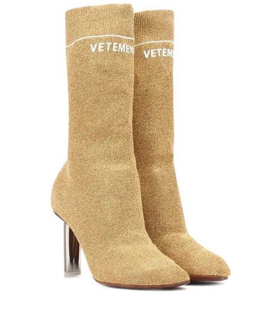 Vetements beige Stretch-jersey ankle boots