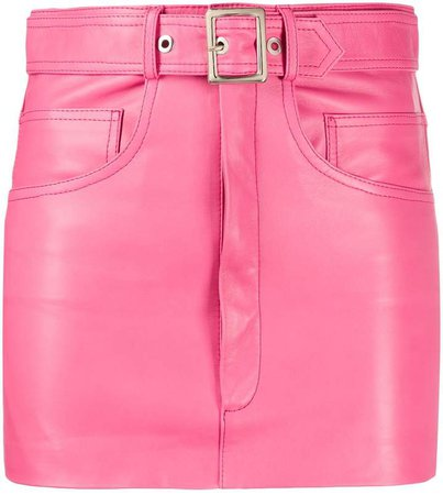 Manokhi belted leather mini skirt